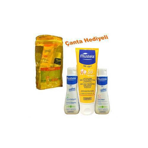 Mustela Very High Protection Sun Cream spf50 - 200 ml - Mustela Hydra Bebe & Mustela Gentle-Cleansing 100ml Hediye