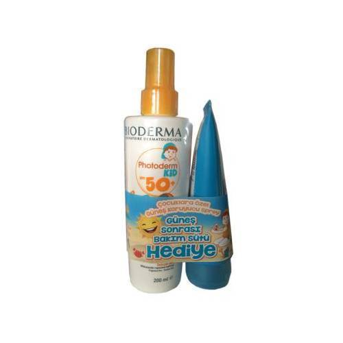 Bioderma Photoderm Kid Sprey SPF 50+ 200 ml + Bioderma Photoderm After Sun 100 ml Hediye