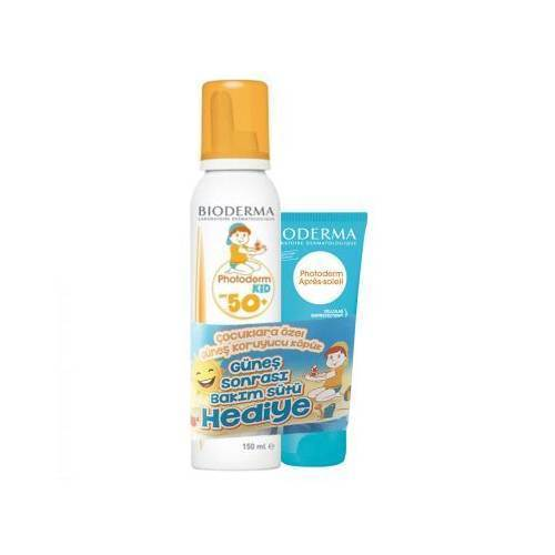 Bioderma Photoderm Kid Mousse SPF 50+ 150 ml + Bioderma Photoderm After Sun 100 ml Hediye