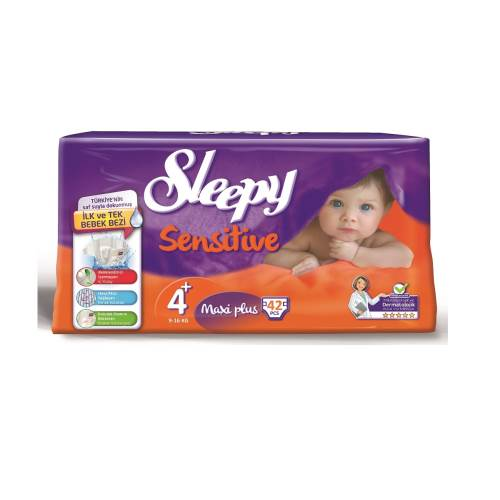 Sleepy Sensitive Maxi Plus Jumbo 42`li Bebek Bezi 4+ Numara