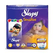 Sleepy Sensitive Mini Jumbo 68`li Bebek Bezi 2 Numara