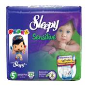 Sleepy Sensitive Junior Plus Jumbo 22`li Bebek Bezi 5+ Numara